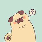 Cute & Confused Chubby Pixel Pug - Long boye by Bumcchi