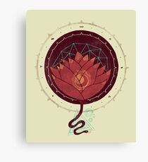 Red Lotus Canvas Print
