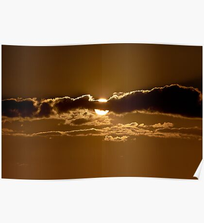 Sunset Blocked by Cloud Poster