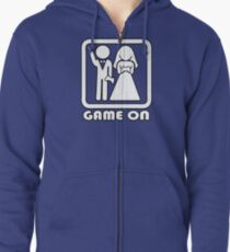 GAME ON 3 Zipped Hoodie