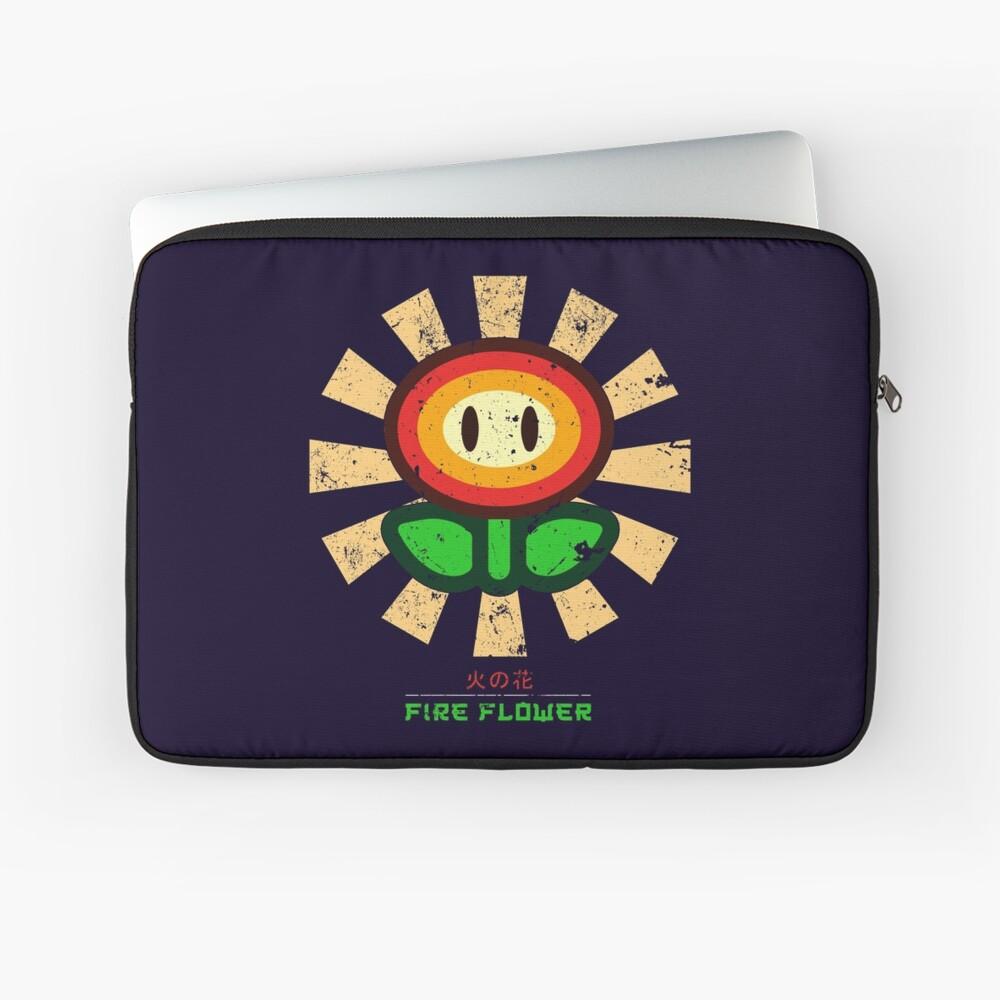 Feuerblume Retro Japaner Mario Laptoptasche