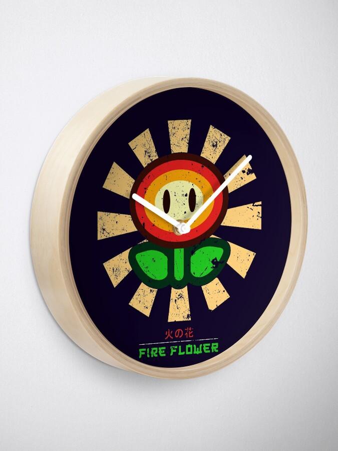 Alternative Ansicht von Feuerblume Retro Japaner Mario Uhr