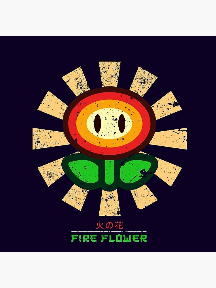 Feuerblume Retro Japaner Mario von Nova5