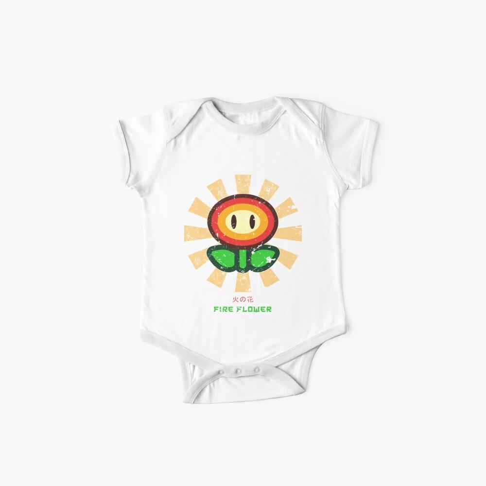 Feuerblume Retro Japaner Mario Baby Body