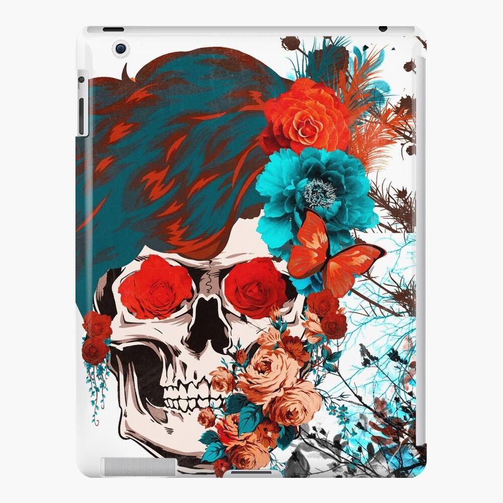 Floral vintage sKull Funda y vinilo para iPad