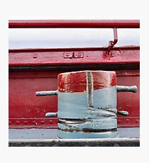 Bitt, red and grey (2) Photographic Print