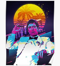 Scarface retro art Poster