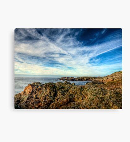 Looking towards Bibette Head - Alderney Canvas Print