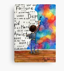 Always Keep Fighting Watercolor Painting (2015) REVAMP Canvas Print
