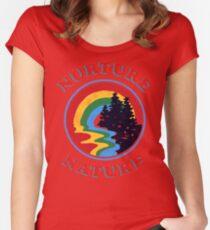 Nurture Nature Vintage Environmentalist Design Fitted Scoop T-Shirt