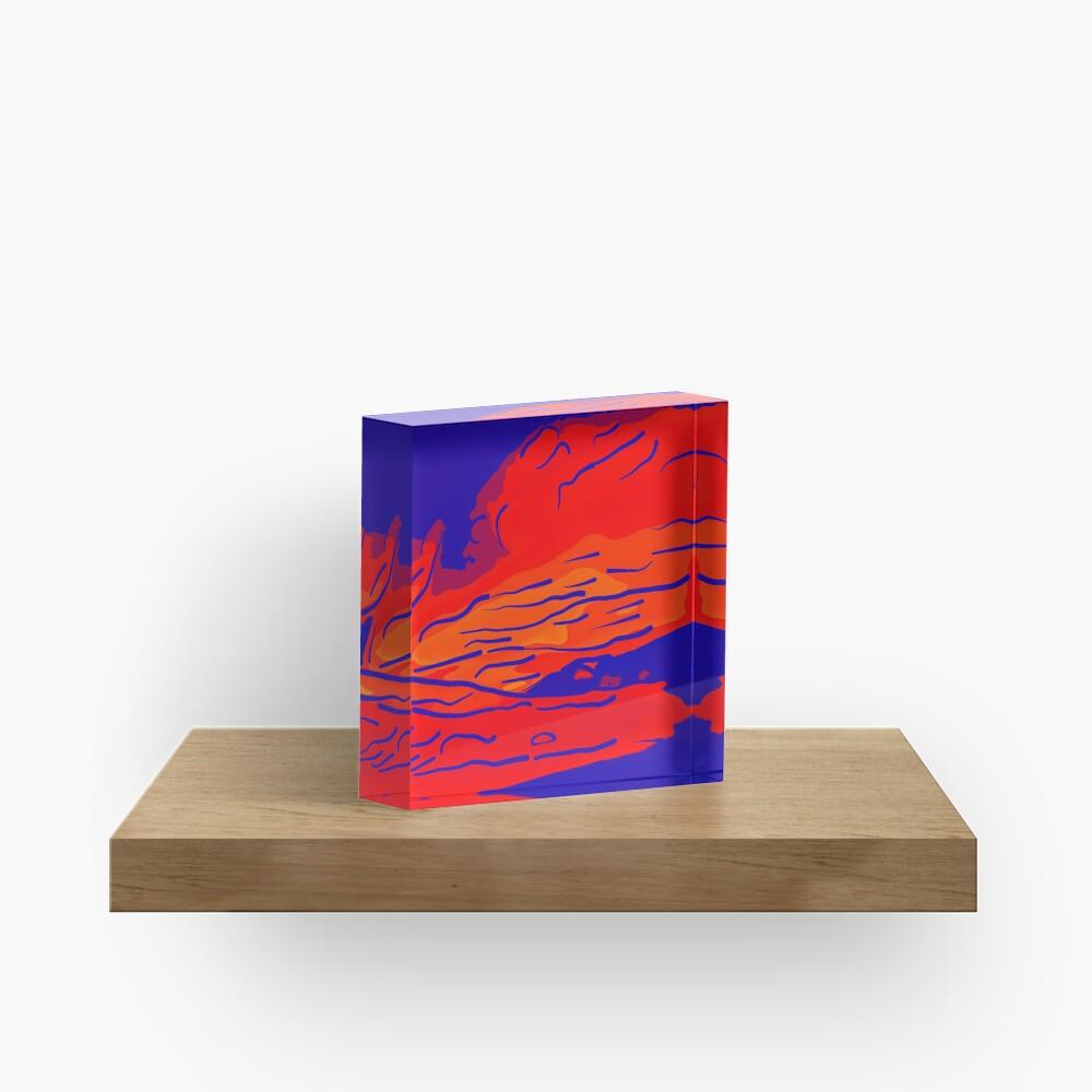 abstract style aurora borealis absbry Acrylblock