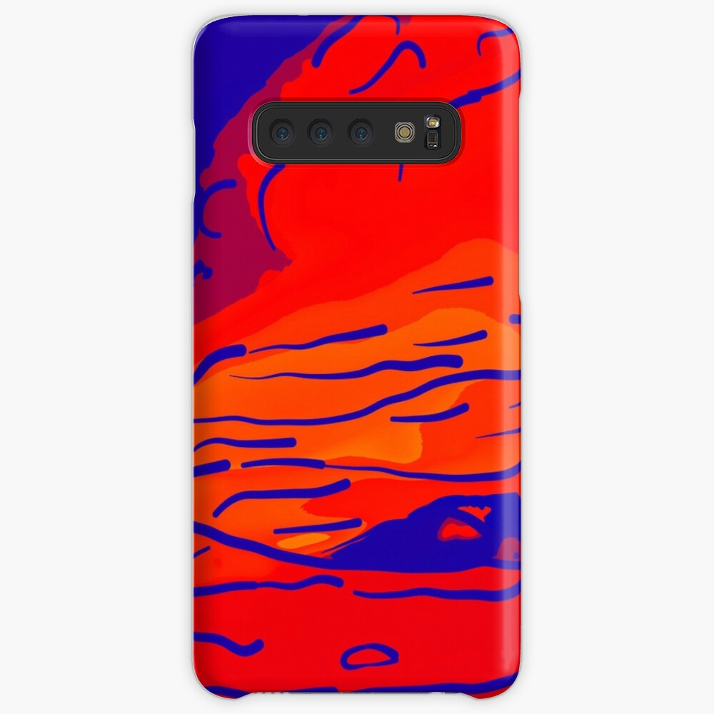 abstract style aurora borealis absbry Hülle & Klebefolie für Samsung Galaxy