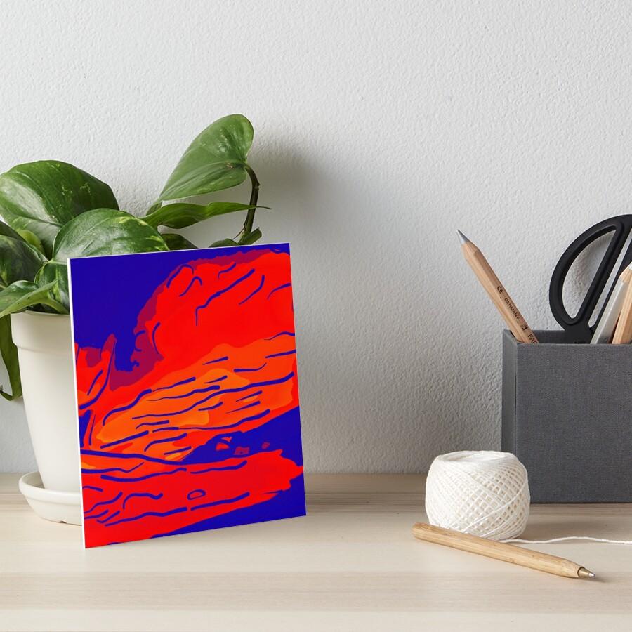 abstract style aurora borealis absbry Galeriedruck