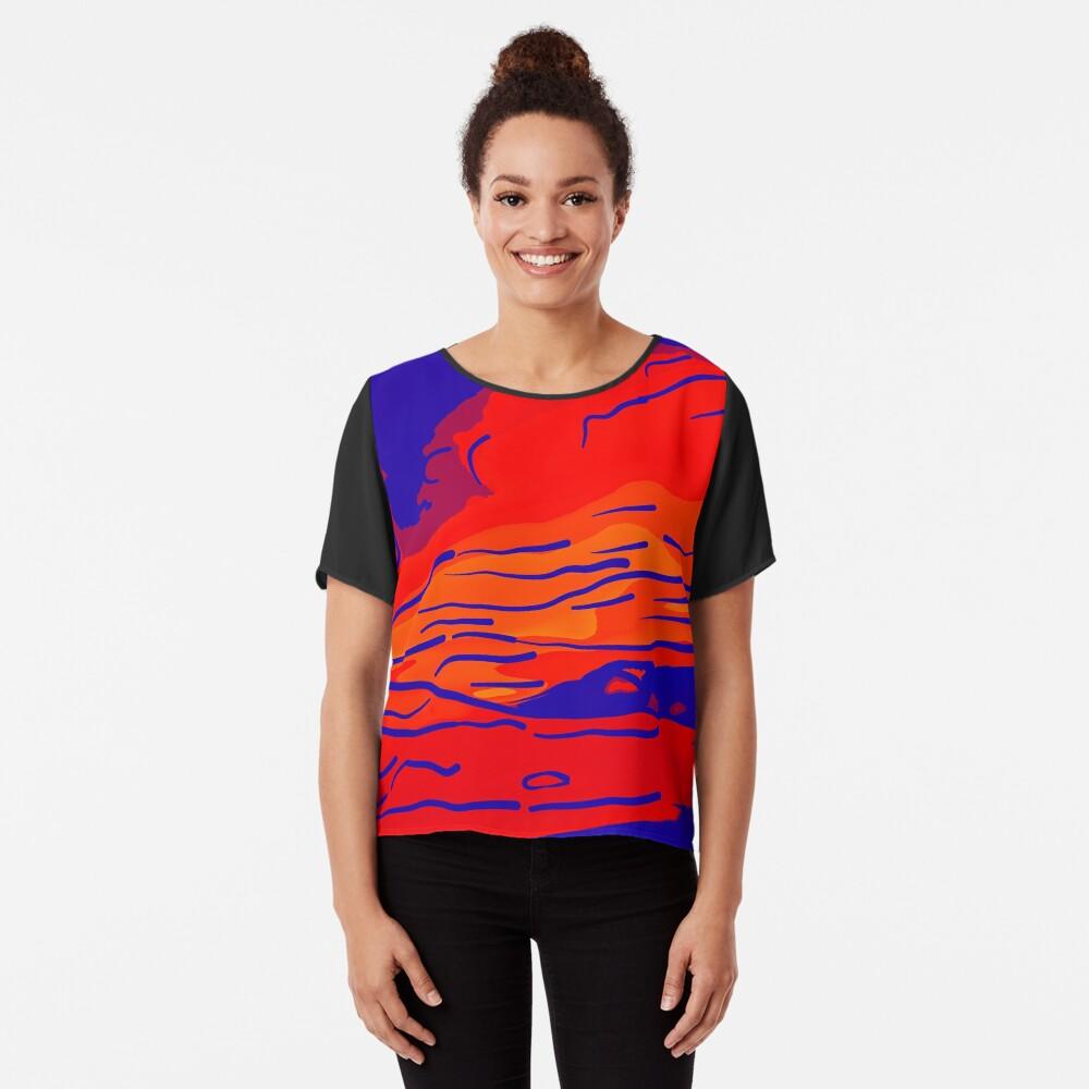 abstract style aurora borealis absbry Chiffon Top