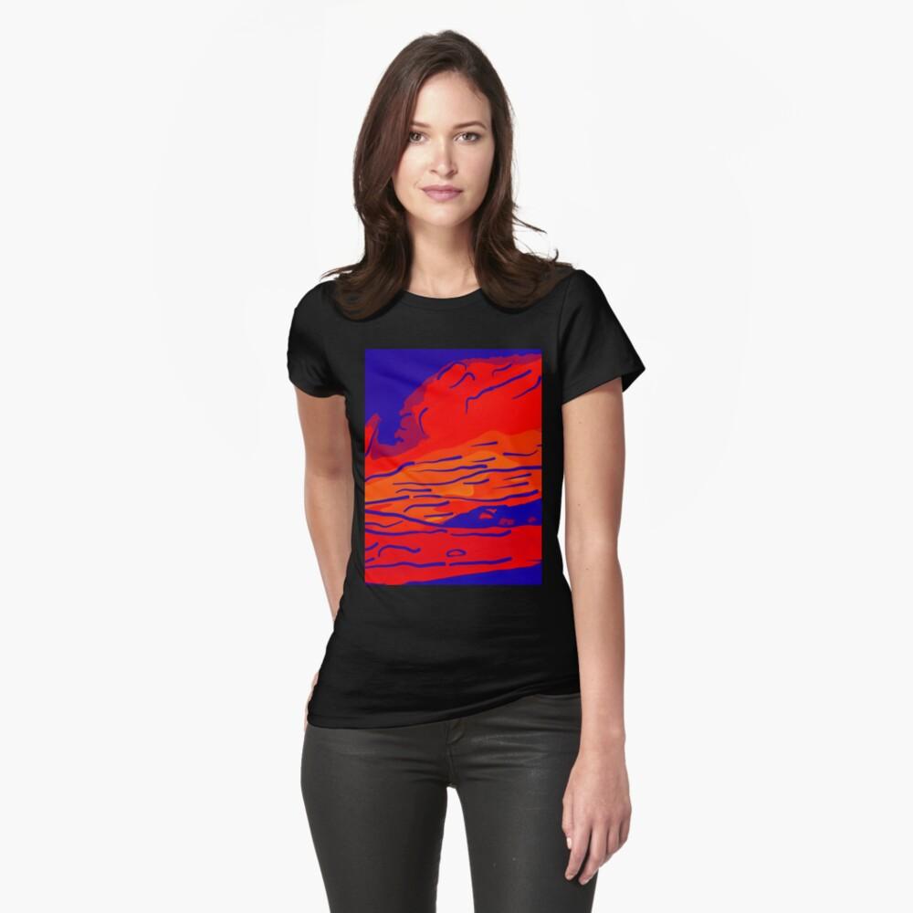 abstract style aurora borealis absbry Tailliertes T-Shirt