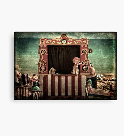 Mr. Punch Proclaims His Innocence Canvas Print