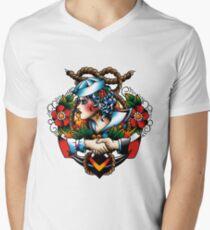 Navy Pinup Men's V-Neck T-Shirt
