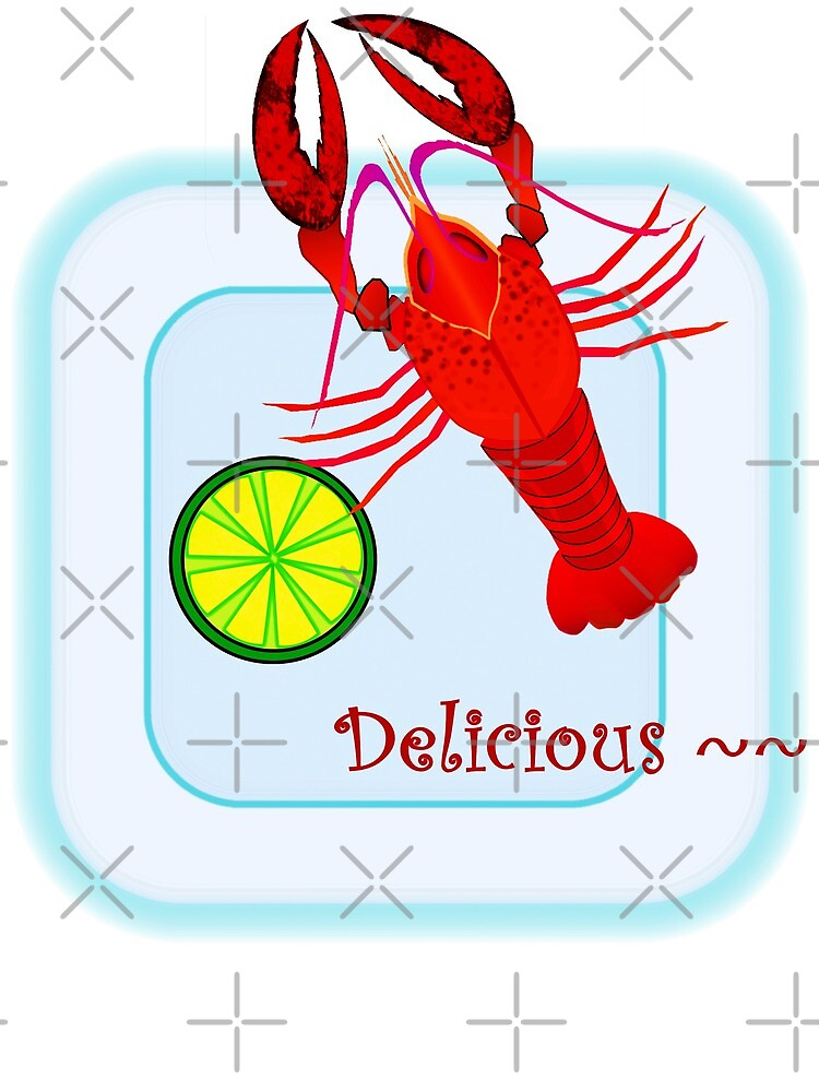 lobster on plate by LisaBeth