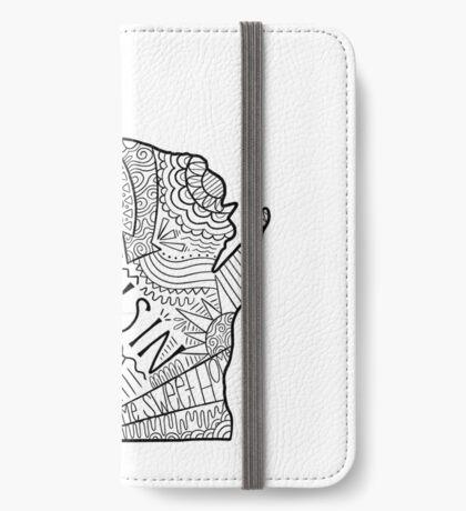 Wisconsin State Doodle iPhone Flip-Case