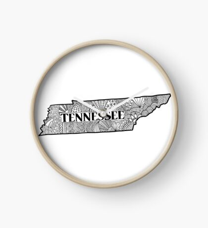 Tennessee State Doodle Uhr