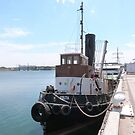 'Yelta' The Old Steam Tug, circa early 1900's. Port Adelaide. by Rita Blom