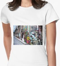 The Melbourne art scene Women's Fitted T-Shirt