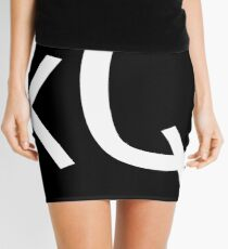 Keegan Quinn logo (white) Mini Skirt