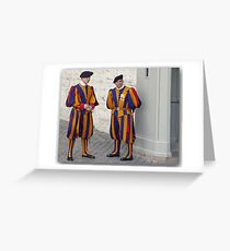 Greetings from the Med / The Swiss Guards Greeting Card