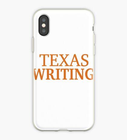 Texas Writing iPhone Case