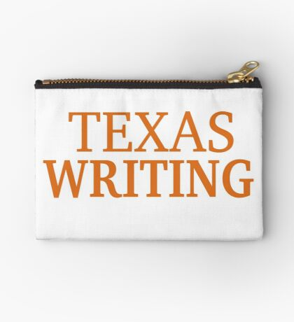Texas Writing Zipper Pouch