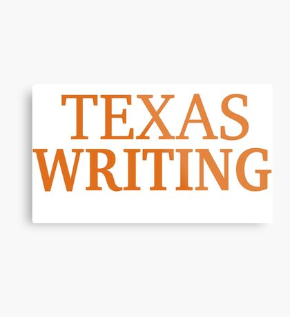 Texas Writing Metal Print