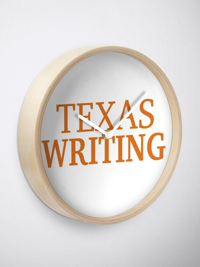 Alternate view of Texas Writing Clock