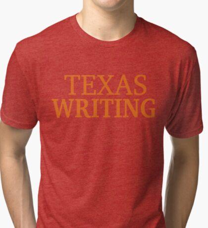 Texas Writing Tri-blend T-Shirt