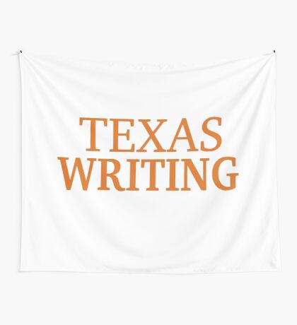 Texas Writing Wall Tapestry