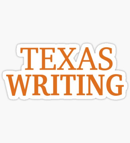 Texas Writing Sticker