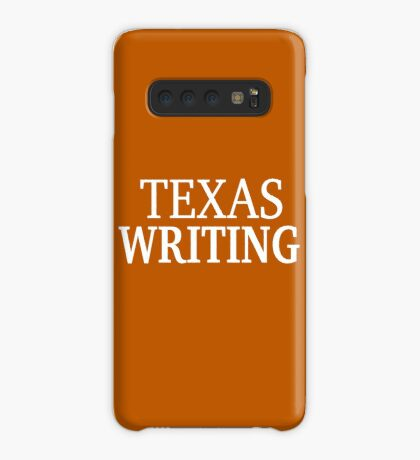 Texas Writing with White Text Case/Skin for Samsung Galaxy