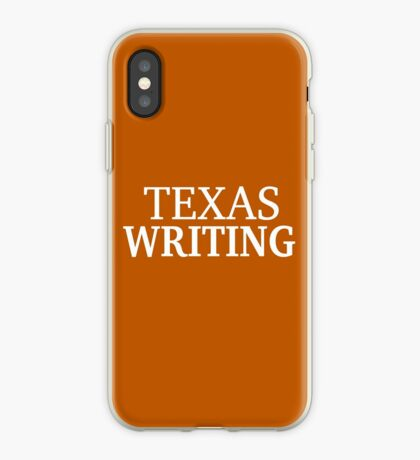 Texas Writing with White Text iPhone Case