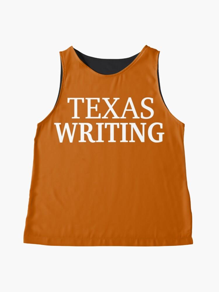 Alternate view of Texas Writing with White Text Sleeveless Top