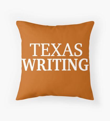 Texas Writing with White Text Throw Pillow