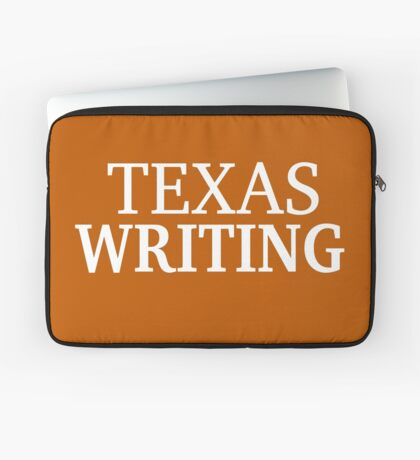 Texas Writing with White Text Laptop Sleeve