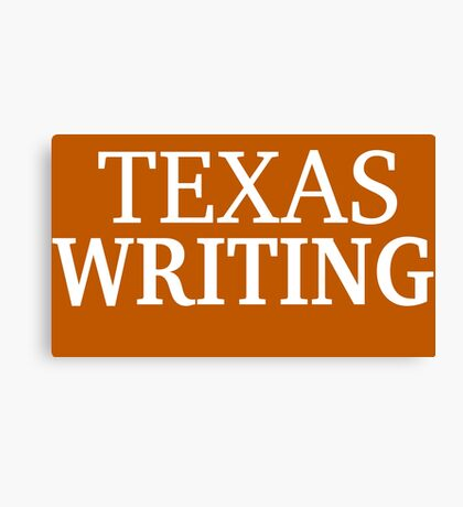 Texas Writing with White Text Canvas Print