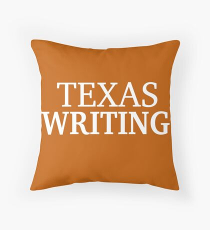 Texas Writing with White Text Floor Pillow