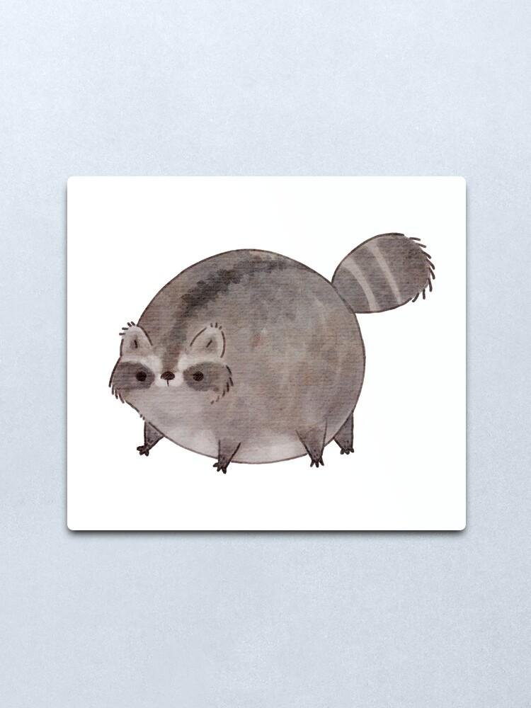 Alternate view of Chubby Trash Panda Metal Print