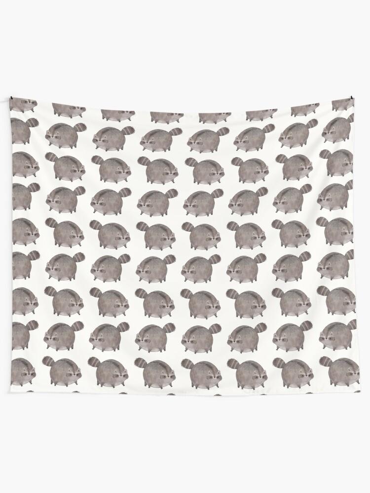 Alternate view of Chubby Trash Panda Wall Tapestry