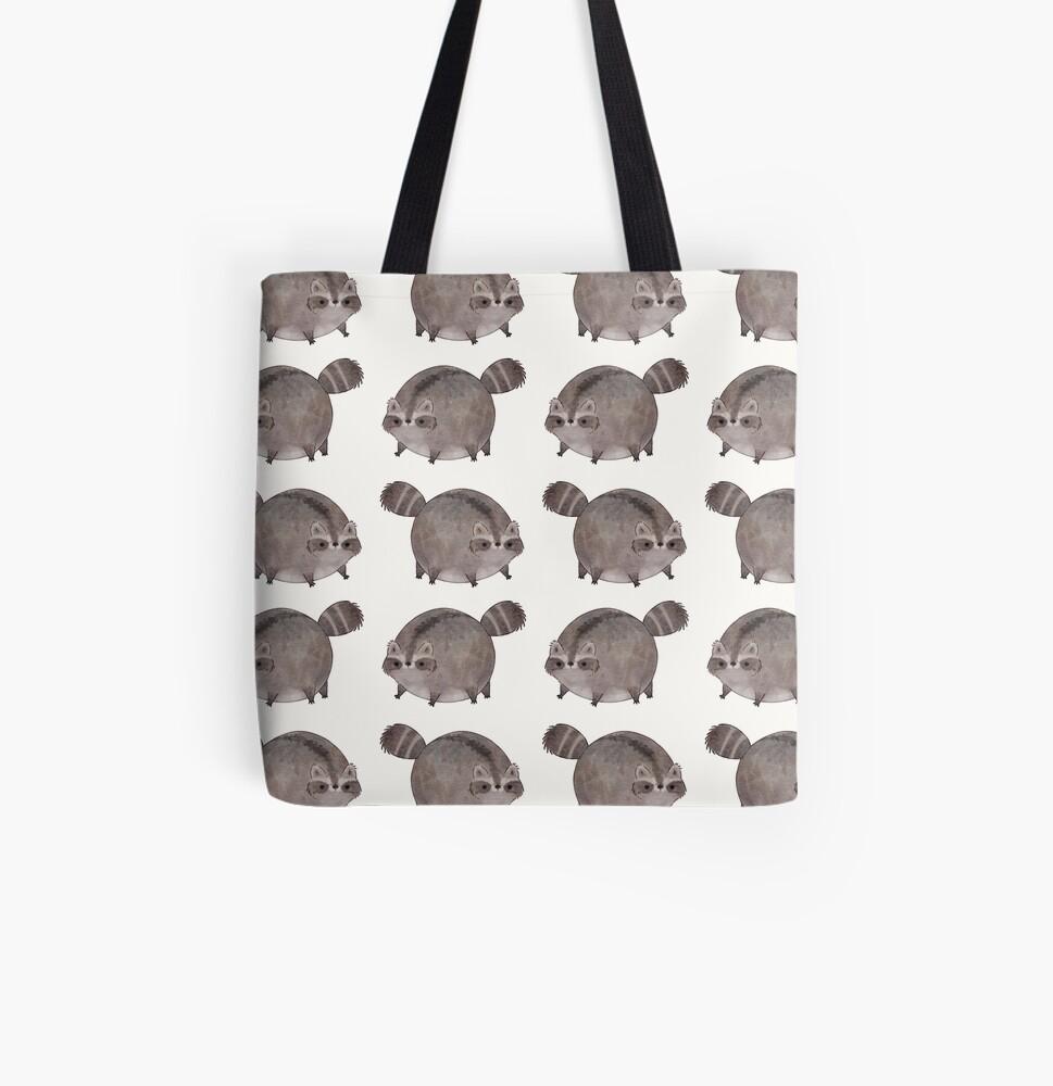 Chubby Trash Panda All Over Print Tote Bag