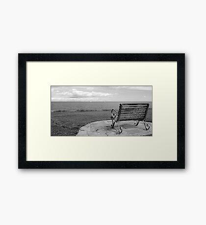 Skerries Bench II Framed Print