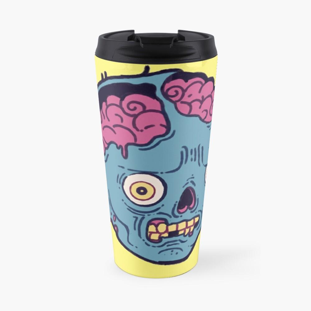 Zombie Brains - I bite Travel Mug