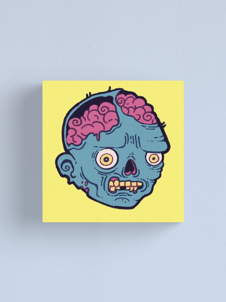 Alternate view of Zombie Brains - I bite Canvas Print