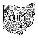 Ohio Gekritzel von Corey Paige Designs