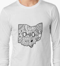 Ohio Gekritzel Langarmshirt